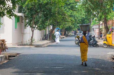 Puducherry (Pondicherry), India. Street in Pondicherry, India.
