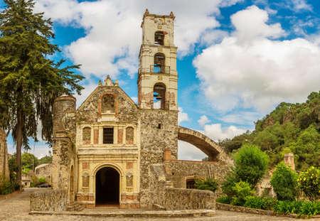 Church at Hacienda Santa Maria Regla, Hidalgo, Mexico.
