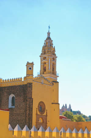 View of Convent of San Gabriel and Church of Our Lady of Remedies in Cholula, Mexico