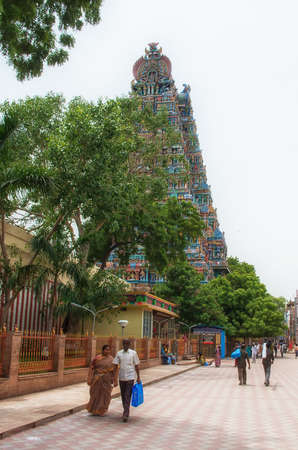 Madurai, India - October 13, 2014: Menakshi Temple in Madurai , state of Tamil Nadu in India
