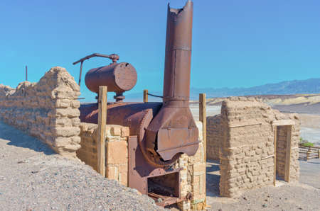 Harmony Borax Works in Death Valley, USA Stock Photo
