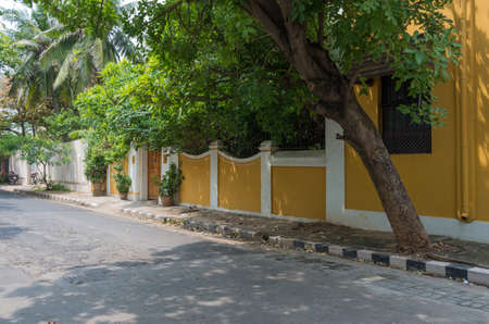 Street in Pondicherry, India. Stock Photo - 85434631