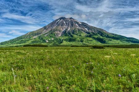 Fuss Peak Volcano, Paramushir Island, Kuril Islands, Russia Stock Photo