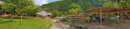 panoramic view of old farm in Butuceni, Moldova Stock Photo