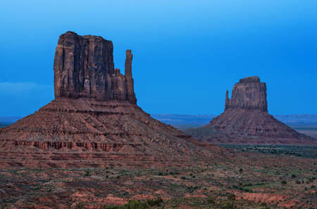 A view in the Monument valley. Navajo tribal park, USA.