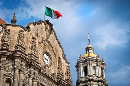 Old Basilica of Our Lady of Guadalupe in Mexico city Editorial
