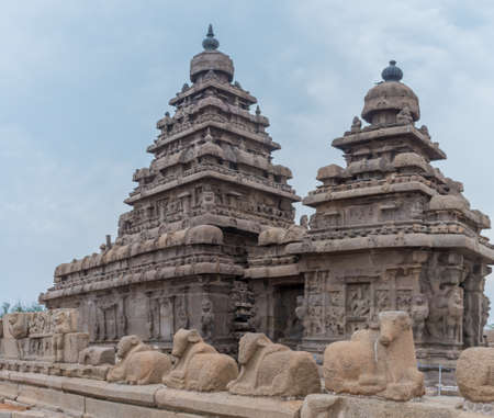 Shore temple in Mamallapuram, Tamil Nadu, India Reklamní fotografie