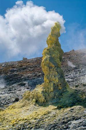 Ebeko Volcano, Paramushir Island, Kuril Islands, Russia
