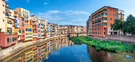 View of Jewish quarter in Girona. Spain.