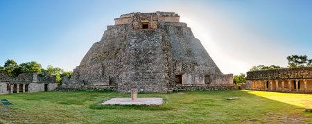 Pyramid of the Magician in Uxmal , ancient Maya city. Yucatan, Mexico