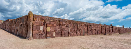 Tiwanaku. Ruins in Bolivia, Pre-Columbian archaeological site.