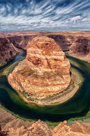 Horse Shoe Bend on the Colorado River, Arizona, USA.