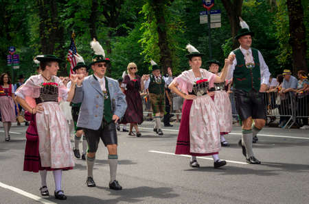 New York City - September 15, 2018: the 61th annual German-American Steuben Parade on Fifth Avenue celebrates German-American heritage in New York City