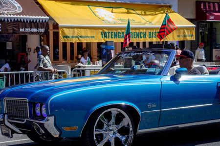 New York City - September 16, 2018: The African American Day Parade in Harlem, New York City