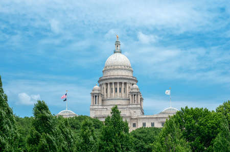 The Rhode Island State House in the capital of the U.S. state of Rhode Island Providence. USA