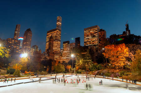 Ice Rink in Central Park , New York City Banque d'images