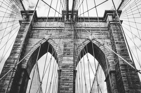 Brooklyn Bridge in New York. USA 免版税图像