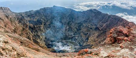 Volcano Kerinci. Crater lake. Kerinci Seblat National Park, Sumatra, Indonesia