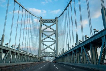 Ben Franklin Bridge in Philadelphia, Pennsylvania, USA