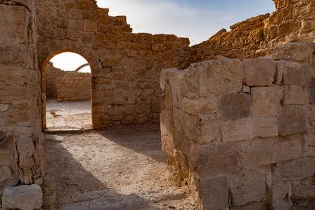 Shivta is an ancient city in the Negev Desert of Israel. Foto de archivo