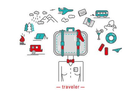 traveler: Traveler icons illustration