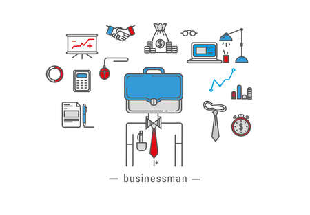 office worker: Business icons, office worker Illustration