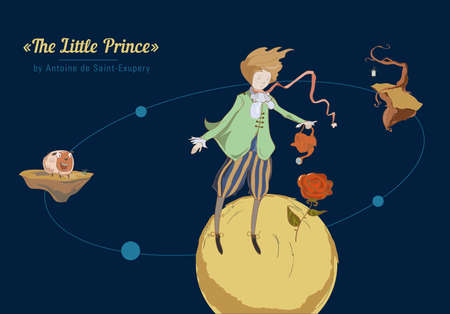 The little prince of the planet in space