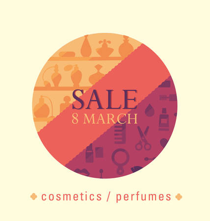 eighth: sale of cosmetics and perfumes eighth of March