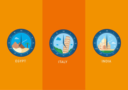 Creative icons, city landmarks depicted in the watch dial