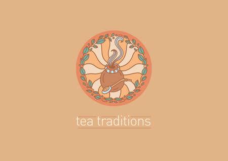 yerba mate: icono en las tradiciones de té. hojas de té y compañero de té