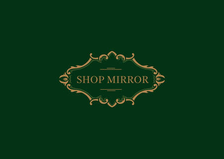 Creative logo for the shop mirrors, floral frame