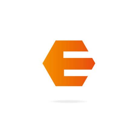 Letter E icon. Design template elements