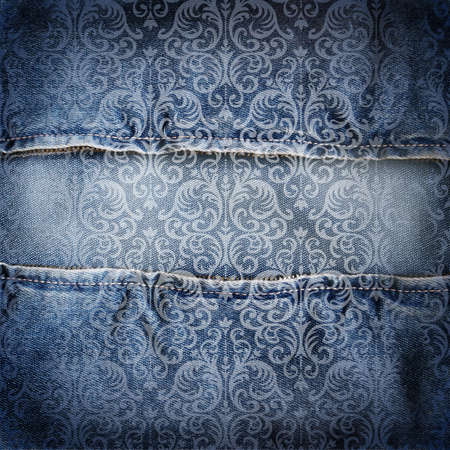 torn jeans: Abstract jeans background