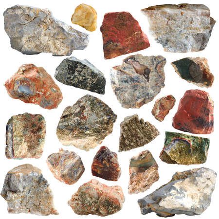 Mineral geology collection isolated photo