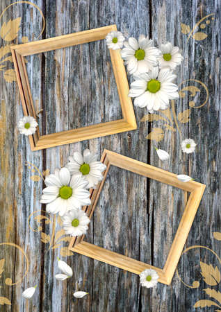 Vintage background on a wood wall