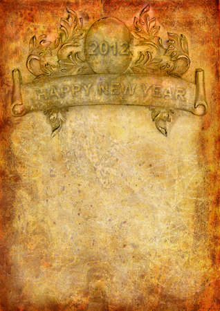 ocher: Happy New Year abstract background