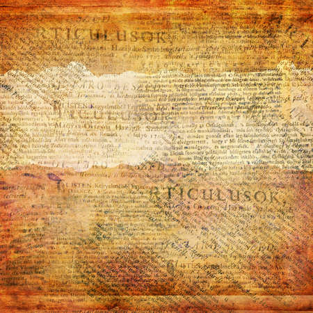 Grunge abstract background with old newspaper photo