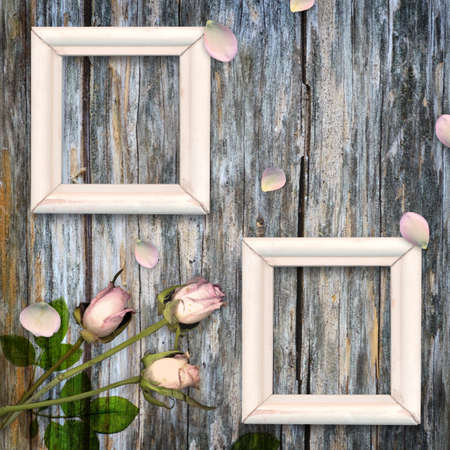 wedding photo frame: Vintage background Stock Photo