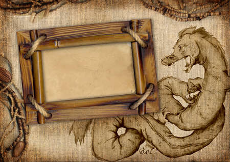 Frame with dragon photo