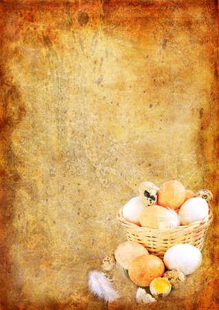 Easter vintage background photo