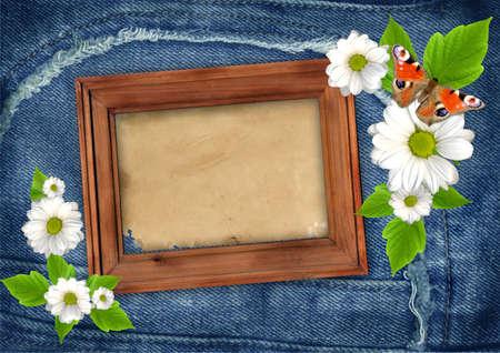 scrapbook frames: Jeans scrapbook background