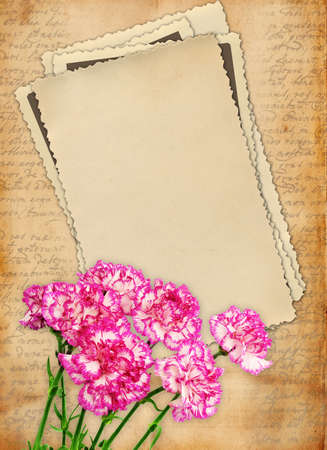 Vintage scrapbook background photo