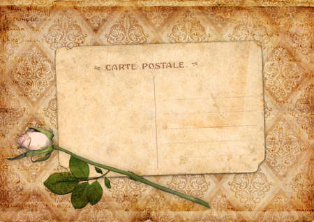 flower age: Vintage background with flower ornament postcard