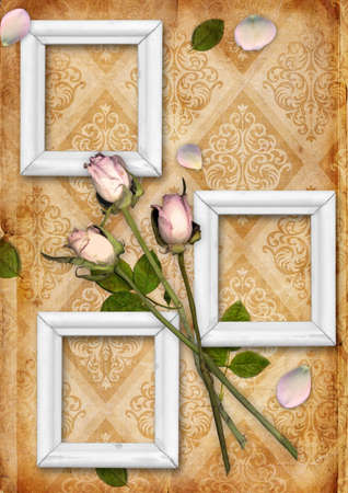 Vintage background with flower ornament photo