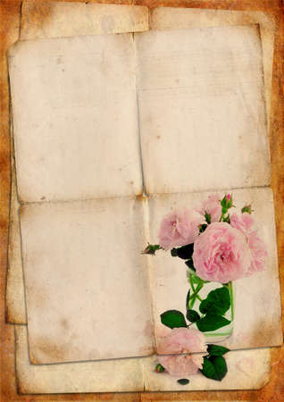 old diary: Vintage background Stock Photo