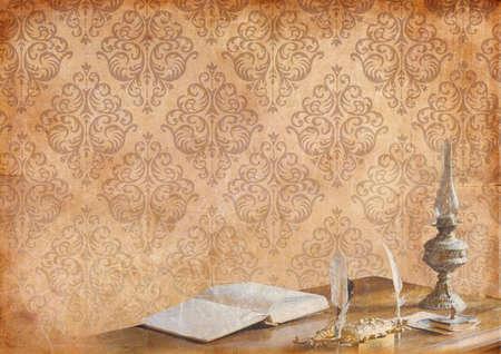 ocher: Romantic background Stock Photo