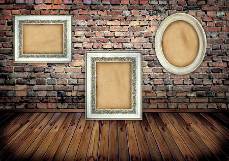 paredes de ladrillos: Marco en la pared de ladrillo
