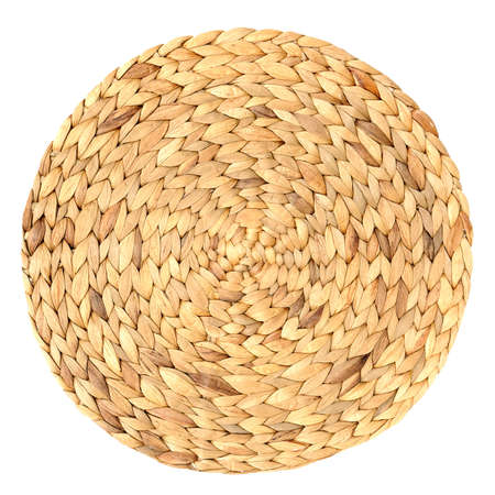 rattan: woven round hand made background isolated