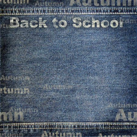 Denim texture with Back to School background photo