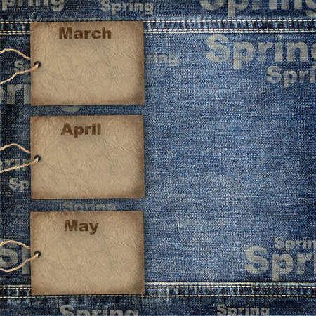 3 month: Calendar planning background Stock Photo